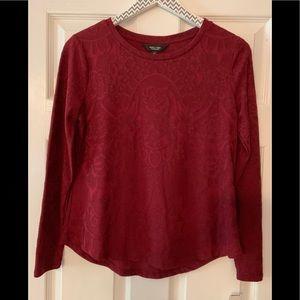 VeraWang dark red top